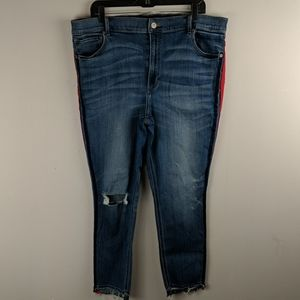 Express blue Jeans size 18 are stretch